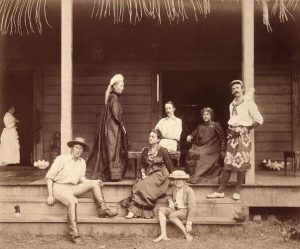 Stevenson family at Vailima, by John Davis, ca 1891