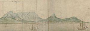 Illustratie Tafelberg en de stad. Gordon Atlas Rijksmuseum RP-T-1914-17-3-B