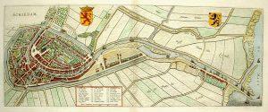 Schiedam stadsplattegrond J. Blaeu 1649
