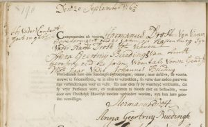 Ondertrouw Hermanus Drost en Anna Geertruy Buedingh