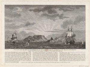 De Slag om het Kasteel van Dansburg in de baai van Kaap de Goede Hoop. 13 januari 1782