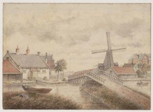 Zaagmolen De Jager door A. Martin 1890