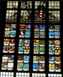 'Burgemeestersraam' Oude Kerk Amsterdam.