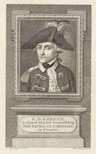 Otto Derk Gordon als kolonel van Pro Patria et Libertate.