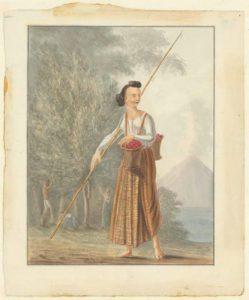Roosje tijdens de notenpluk, Q.M.R. Ver Huell